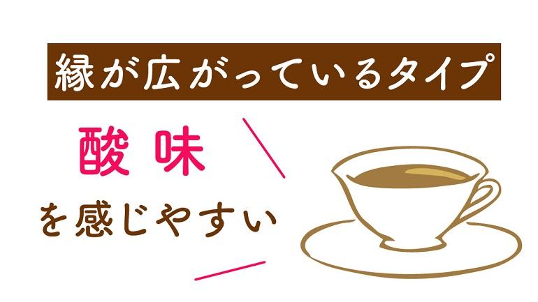 コーヒーカップの形状による味の違い